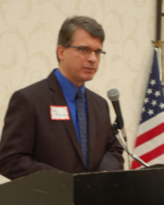 Jay McKiernan, President of Americans for Christian Traditions in our Nation of PA, York County chapter, speaking at their Feb. 7, 2016 breakfast.